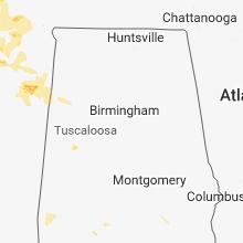 Regional Hail Map for Birmingham, AL - Saturday, May 19, 2018