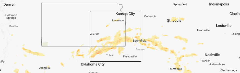 Chanute Kansas Map.Hail Map For Chanute Ks Saturday May 19 2018