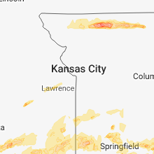 Regional Hail Map for Kansas City, MO - Saturday, May 19, 2018