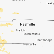 Regional Hail Map for Nashville, TN - Saturday, May 19, 2018