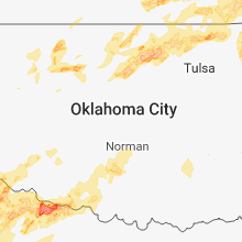 Regional Hail Map for Oklahoma City, OK - Saturday, May 19, 2018