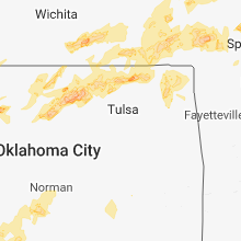 Regional Hail Map for Tulsa, OK - Saturday, May 19, 2018
