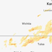Regional Hail Map for Wichita, KS - Saturday, May 19, 2018
