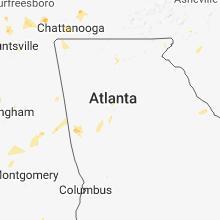 Regional Hail Map for Atlanta, GA - Sunday, May 20, 2018