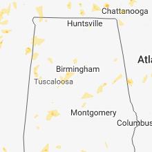 Regional Hail Map for Birmingham, AL - Sunday, May 20, 2018