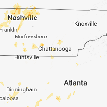 Regional Hail Map for Chattanooga, TN - Sunday, May 20, 2018