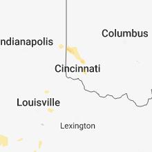 Regional Hail Map for Cincinnati, OH - Sunday, May 20, 2018