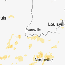 Regional Hail Map for Evansville, IN - Sunday, May 20, 2018