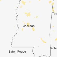Regional Hail Map for Jackson, MS - Sunday, May 20, 2018