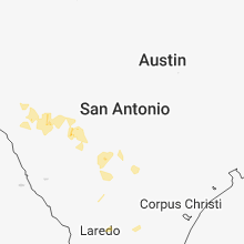 Regional Hail Map for San Antonio, TX - Sunday, May 20, 2018