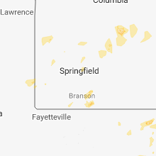 Regional Hail Map for Springfield, MO - Sunday, May 20, 2018