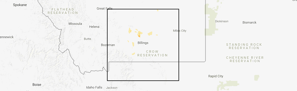 Hail Map for Billings, MT - Monday, May 21, 2018