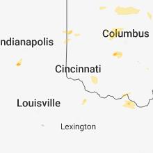 Regional Hail Map for Cincinnati, OH - Monday, May 21, 2018