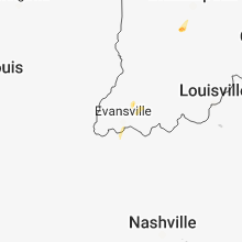 Regional Hail Map for Evansville, IN - Monday, May 21, 2018