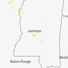 Regional Hail Map for Jackson, MS - Monday, May 21, 2018