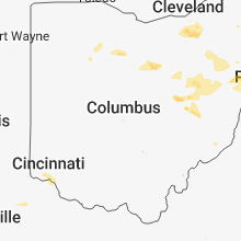 Regional Hail Map for Columbus, OH - Tuesday, May 22, 2018