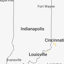 Regional Hail Map for Indianapolis, IN - Tuesday, May 22, 2018