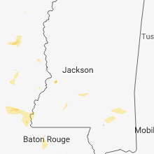 Regional Hail Map for Jackson, MS - Tuesday, May 22, 2018