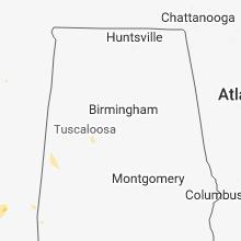 Regional Hail Map for Birmingham, AL - Wednesday, May 23, 2018