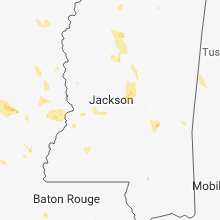 Regional Hail Map for Jackson, MS - Wednesday, May 23, 2018