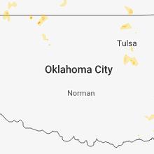 Regional Hail Map for Oklahoma City, OK - Wednesday, May 23, 2018