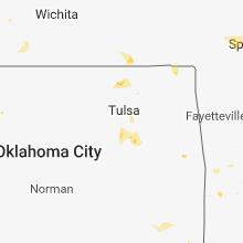 Regional Hail Map for Tulsa, OK - Wednesday, May 23, 2018