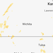 Regional Hail Map for Wichita, KS - Wednesday, May 23, 2018