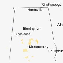 Regional Hail Map for Birmingham, AL - Thursday, May 24, 2018