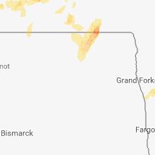 Regional Hail Map for Devils Lake, ND - Thursday, May 24, 2018