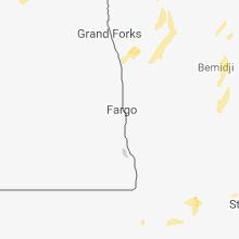 Regional Hail Map for Fargo, ND - Thursday, May 24, 2018