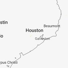 Regional Hail Map for Houston, TX - Thursday, May 24, 2018