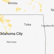 Regional Hail Map for Tulsa, OK - Thursday, May 24, 2018