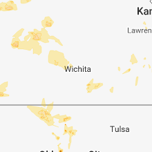 Regional Hail Map for Wichita, KS - Thursday, May 24, 2018