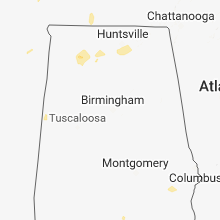 Regional Hail Map for Birmingham, AL - Friday, May 25, 2018