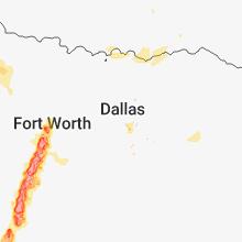 Regional Hail Map for Dallas, TX - Friday, May 25, 2018