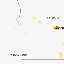 Regional Hail Map for Montevideo, MN - Friday, May 25, 2018