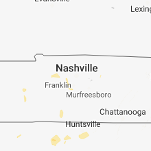 Regional Hail Map for Nashville, TN - Friday, May 25, 2018