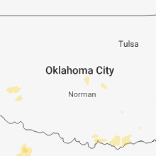 Regional Hail Map for Oklahoma City, OK - Friday, May 25, 2018