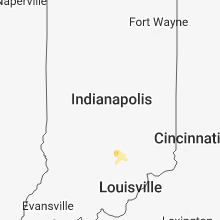 Regional Hail Map for Indianapolis, IN - Saturday, May 26, 2018