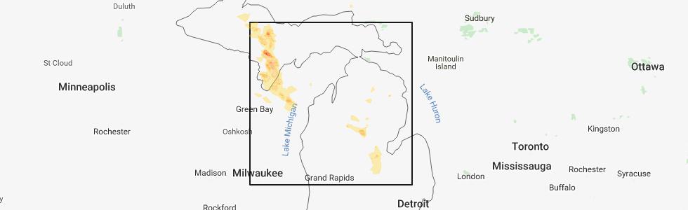 Interactive Hail Maps Hail Map For Midland Mi