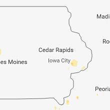 Hail Map for cedar-rapids-ia 2018-05-27