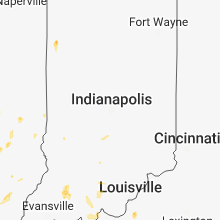 Regional Hail Map for Indianapolis, IN - Sunday, May 27, 2018