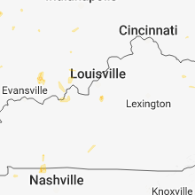 Regional Hail Map for Louisville, KY - Sunday, May 27, 2018