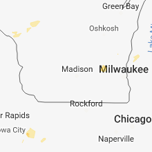 Regional Hail Map for Madison, WI - Sunday, May 27, 2018