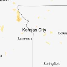 Regional Hail Map for Kansas City, MO - Monday, May 28, 2018