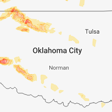 Regional Hail Map for Oklahoma City, OK - Tuesday, May 29, 2018