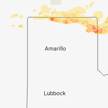 Regional Hail Map for Amarillo, TX - Wednesday, May 30, 2018