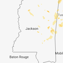 Regional Hail Map for Jackson, MS - Wednesday, May 30, 2018