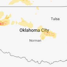 Regional Hail Map for Oklahoma City, OK - Wednesday, May 30, 2018