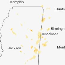 Hail Map for starkville-ms 2018-05-30